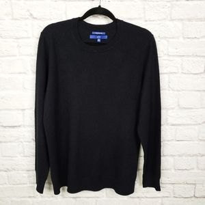 Apt. 9 Black Cashmere Crew Neck Sweater
